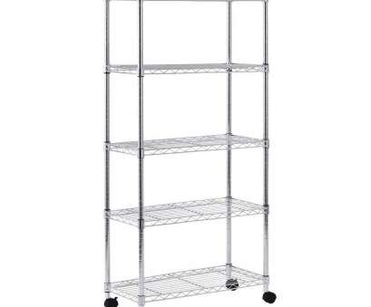 8 Cleaver Wire Chrome Mobile Shelving Unit Images
