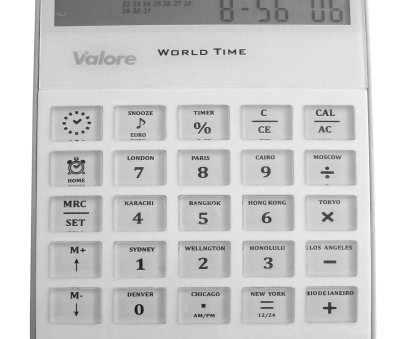 Wire Gauge Combination Calculator Practical Valore Desktop Calculator With World-Time & Calendar, Comprehensive Combination Of A World-Time, Calendar, Alarm Clock, Calculator Function, In One Collections
