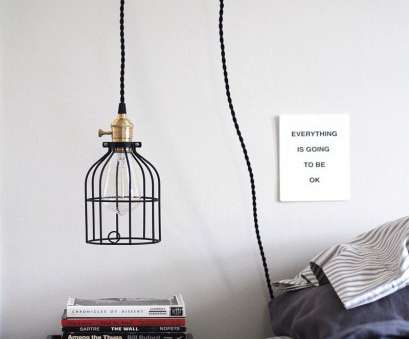 Wire Hanging Pendant Light Most Diy Hanging Pendant Light From Color Cord Pany Anne Sage Wire Clamp Cage 6 Images