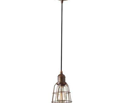 Wire Hanging Pendant Light Professional Long Cable Hanging Traditional Caged Pendant Light Bronze Material Fitting Bracket, Looking Galleries