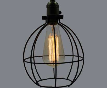 Wire Hanging Pendant Light Cleaver Painted Vintage Industrial 1 Light Black Iron Wire, Cage Pendant Light, Hanging Lamp, Living Room D 9570D-In Pendant Lights From Lights & Lighting On Pictures