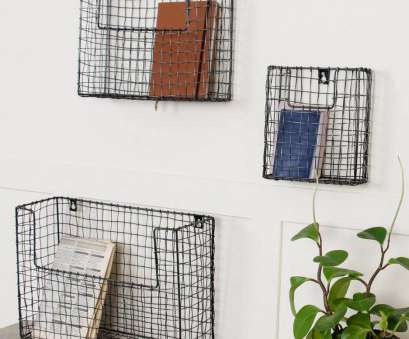Wire Mesh Baskets, Plants Cleaver Kitchen Cabinet: Mesh Hanging Basket Bookcase With Storage Bins Cute Storage Boxes Wire Mesh Wall Photos
