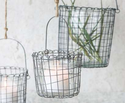 Wire Mesh Baskets, Plants Practical Small Round Metal Wire Hanging Basket Planter By Ib Laursen Rh Em Home Co Uk Small Ideas