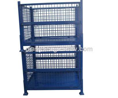 Wire Mesh Baskets South Africa Cleaver Industrial Wire Baskets/Mesh Box/Metal Pallet Cage Customized Warehouse Storage Photos