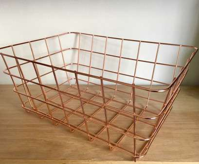 Wire Mesh Baskets South Africa Practical New Copper Rose Gold Metal Geometric Storage Stacking Wire Basket Multi Purpose, EBay Photos