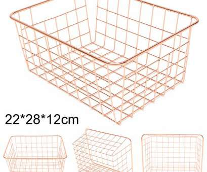 Wire Mesh Baskets South Africa New Rose Gold Copper Wire Mesh Basket Magazine Stairs Home Storage Crate Container 6293442895615, EBay Photos