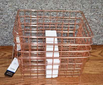 Wire Mesh Baskets South Africa Creative Rose Gold Copper Wire Storage Basket, Set Of 4 Metal Modern Home Decor NEW, EBay Pictures