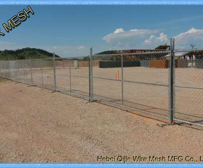 Wire Mesh Fence Suppliers Practical Galvanized Sturdy Temporary Mesh Fencing , Portable Chain Link Fence Steel Feet Ideas
