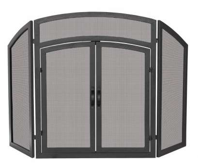 wire mesh fire screen Arch, Black Wrought Iron 3-Panel Fireplace Screen with Doors Wire Mesh Fire Screen Popular Arch, Black Wrought Iron 3-Panel Fireplace Screen With Doors Photos
