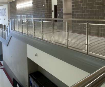 wire mesh guardrail panels Paneling at Texas High School 9 New Wire Mesh Guardrail Panels Ideas