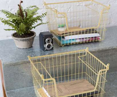 Wire Mesh Storage Baskets Fantastic Lovely Wire Mesh Storage Baskets In A Nice Shade Of Matt Gold Images