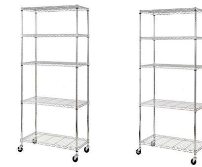 wire shelving accessories amazon Amazon.com: Sandusky MWS361872 5-Tier Mobile Wire Shelving Unit with 3
