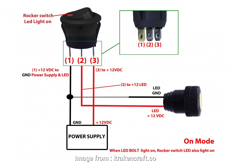 Toggle Switch Wiring Lamp Creative 3  Rocker Switch Wiring Diagram Round 3 Prong Rocker Switch