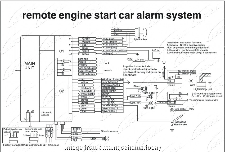 Vehicle Wiring Diagram  Remote Start Professional Car