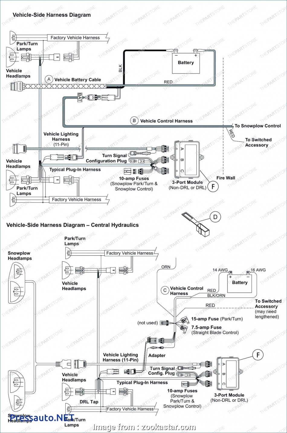 Western Snow Plow Wiring Diagram Most Fisher 4 Port