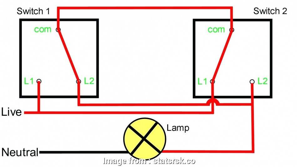 Wire Ceiling Light  Way Switch Practical Wiring Diagram  A