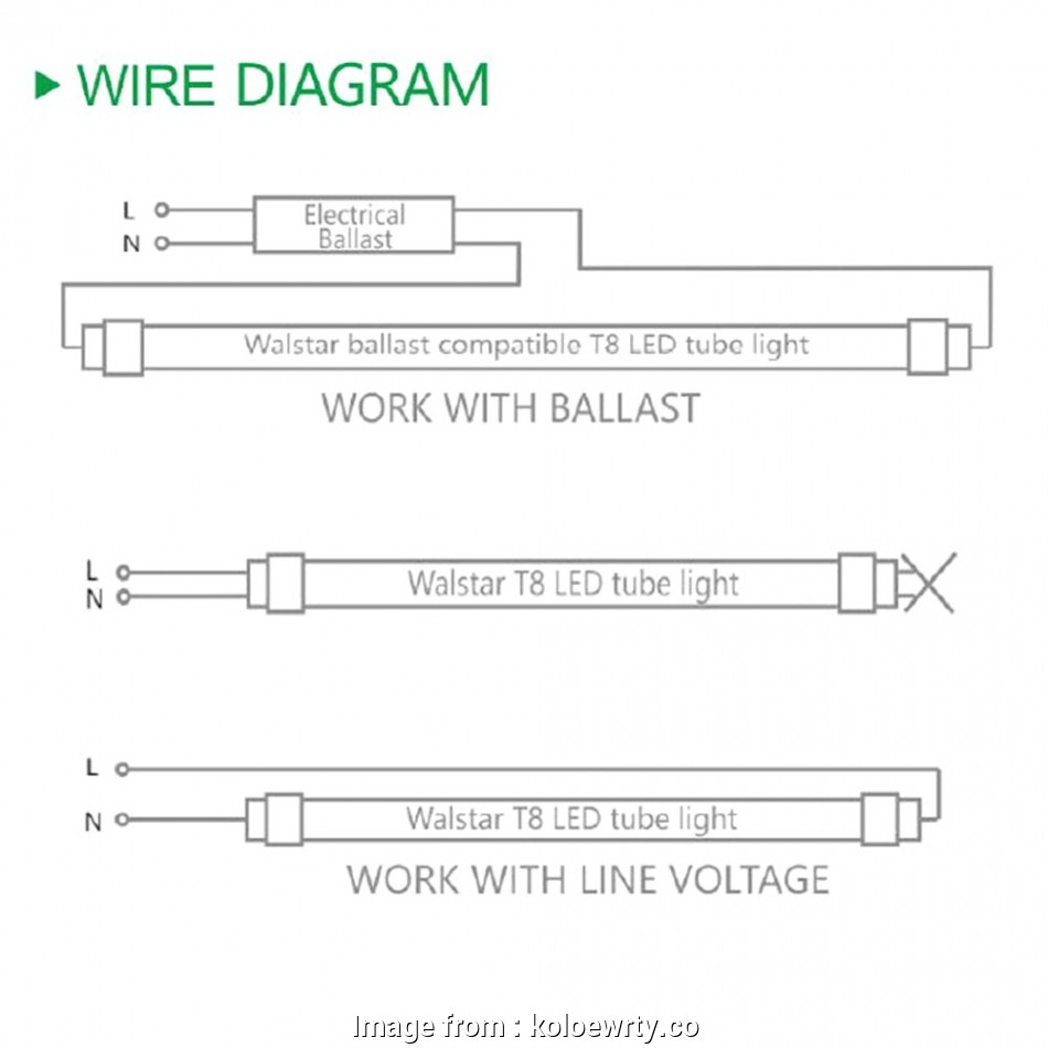 Wire Fluorescent Light Fixture Diagram Most T8 Tube Wiring