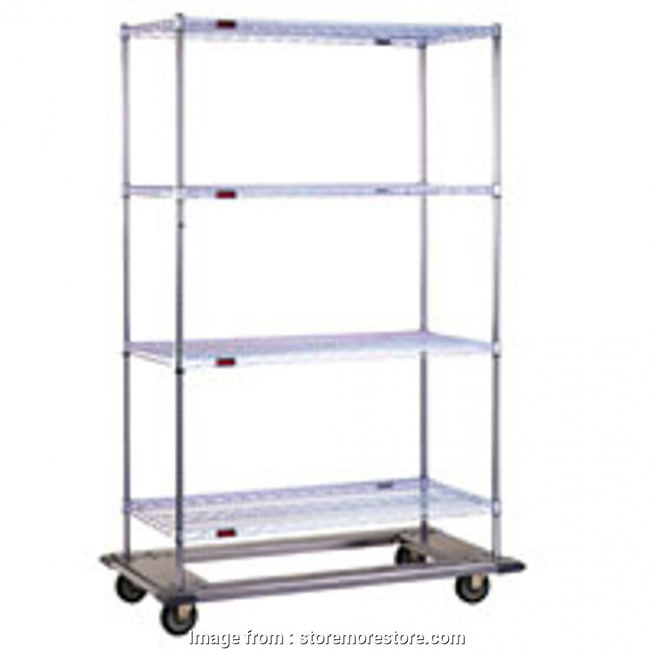wire shelving parts Zinc Wire Shelving Parts, Cart with Swivel Casters (64-7/8