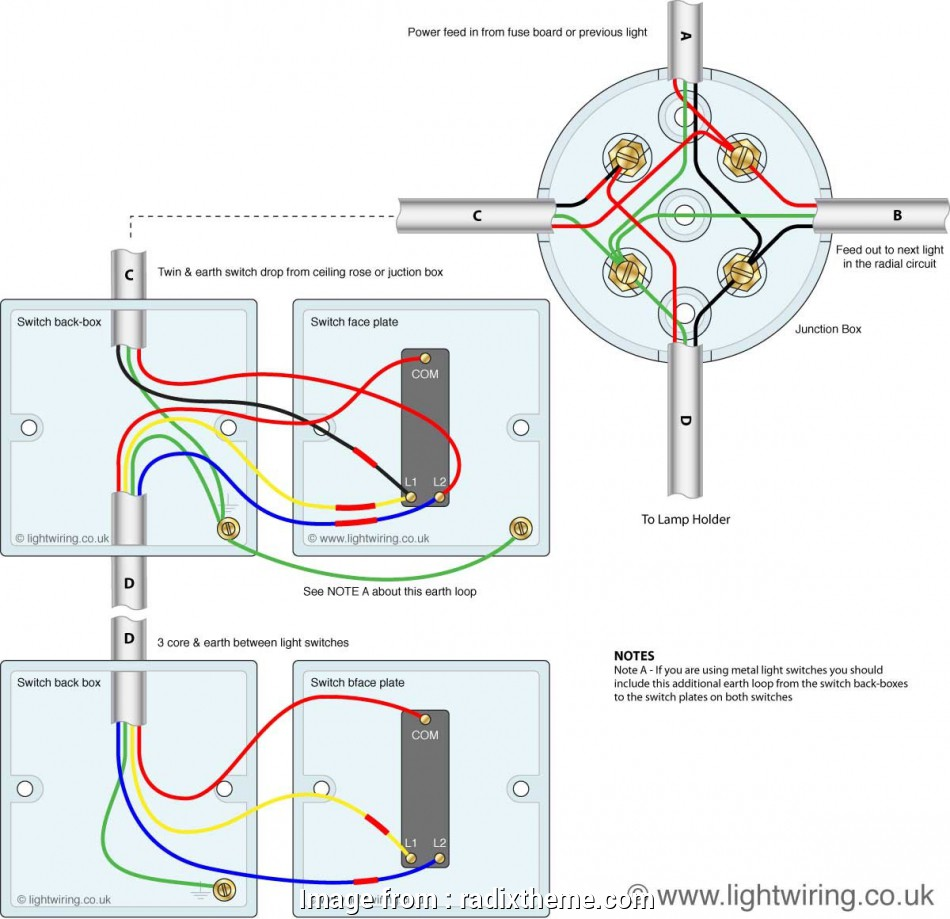 wiring 2 way light switch junction box 3, Switching From Junction, In Light Switch 2, Wiring Diagram 14 Simple Wiring 2, Light Switch Junction Box Solutions