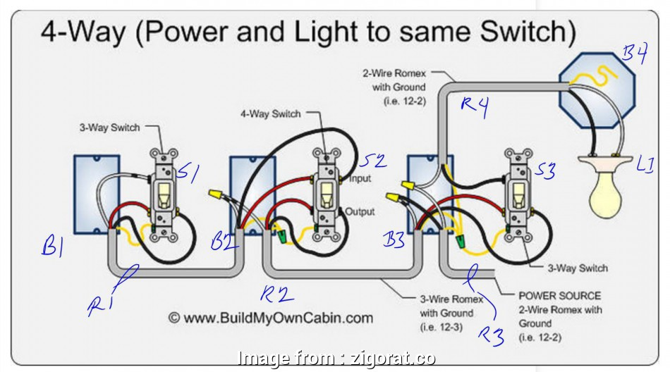 Wiring  2  Switch Perfect 4  Switch Wiring Diagram