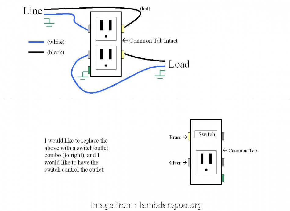 diagram outlet switch combo wiring diagram garbage full