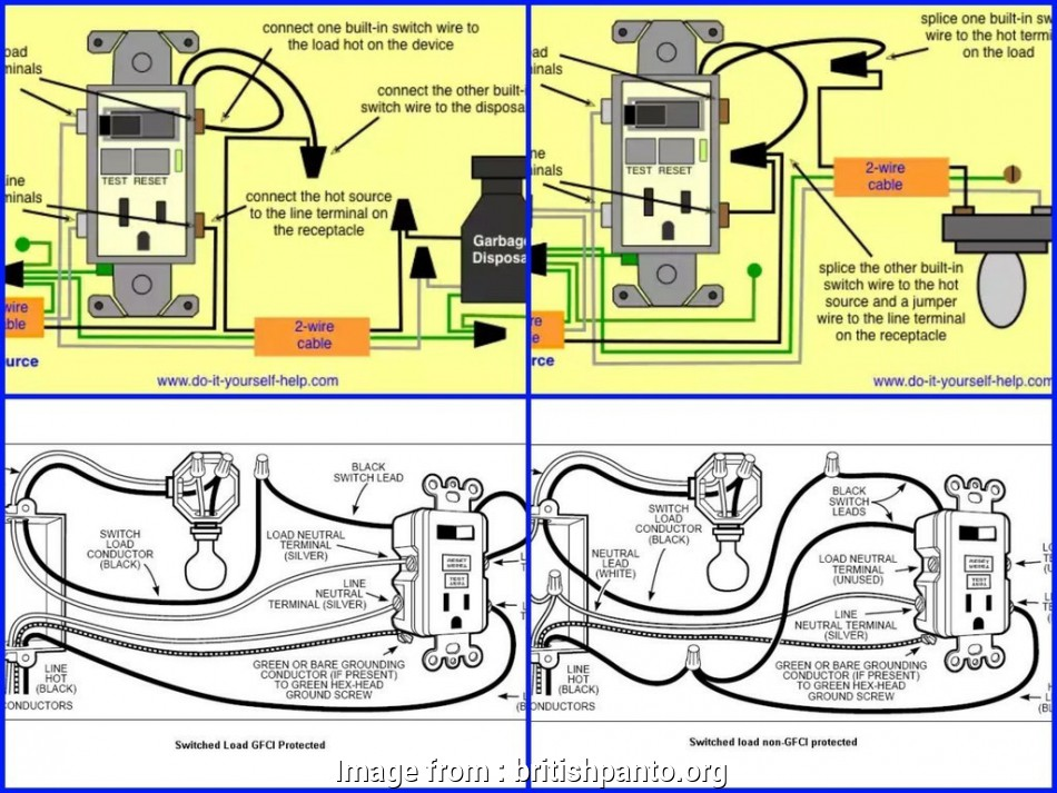 Wiring Diagram  Gfci With Switch Best How To Reset Gfci Outlet Wire A With 3 Wires Leviton