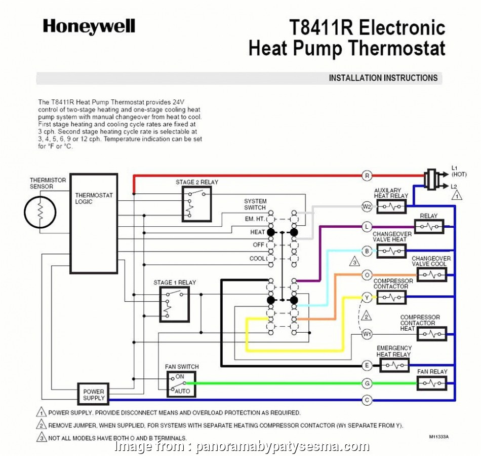 Wiring Diagram  Honeywell Thermostat Rth3100c1002 Cleaver
