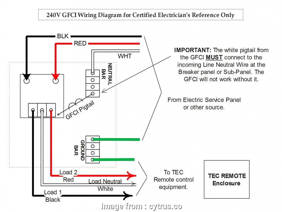 Wiring Diagram Of A Gfci Receptacle Simple Combination Gfci Schematic Wiring Diagram Explained