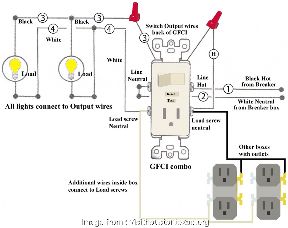 Wiring Diagram Of A Gfci Receptacle Best Multiple Gfci Outlet Wiring Diagram Collection