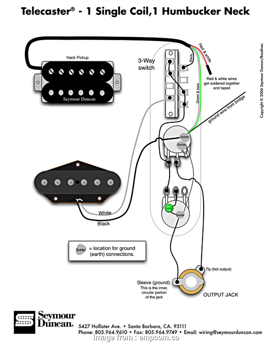 Wiring Diagram  Telecaster 3  Switch Most Tele Wiring Diagram 1 Single Coil Neck Humbucker My