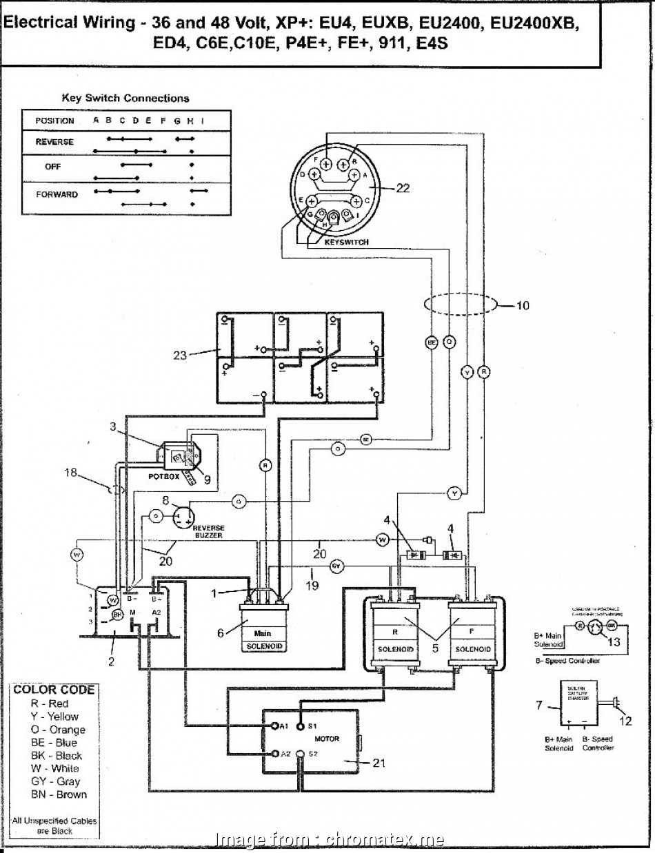 Yamaha Golf Cart Starter Wiring Diagram Popular Ez Go Golf ...